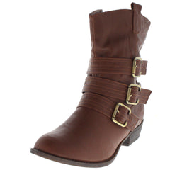 WILSON5 COGNAC SHORT RIDING BOOT - Wholesale Fashion Shoes