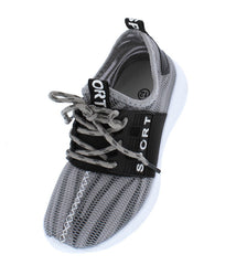 WL001KM GREY KIDS FLAT - Wholesale Fashion Shoes