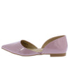 Emory05 Purple Pointed Toe Slide On Dorsay Flat - Wholesale Fashion Shoes