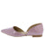 Emory05 Purple Pointed Toe Slide On Dorsay Flat