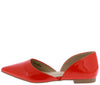 Emory05 Red Pointed Toe Slide On Dorsay Flat - Wholesale Fashion Shoes