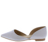 Emory05 Grey Pointed Toe Slide On Dorsay Flat - Wholesale Fashion Shoes