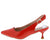 Kalila3 Red Pointed Toe Slingback Kitten Heel