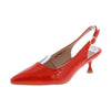 Kalila3 Red Pointed Toe Slingback Kitten Heel - Wholesale Fashion Shoes