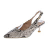Kalila3 Serpentine Pointed Toe Slingback Kitten Heel - Wholesale Fashion Shoes