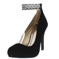 WALTZ31 BLACK WOMEN'S HEEL - Wholesale Fashion Shoes