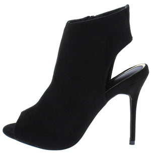 50ad1297a251 Isabelle146 Black Peep Toe Rear Cut Out Stiletto Heel - Wholesale Fashion  Shoes