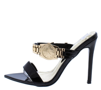 Watch Black Women's Heel - Wholesale Fashion Shoes