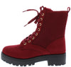Wildone20 Wine Women's Boot - Wholesale Fashion Shoes