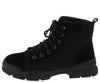 Wolf2 Black Stitch Patch Lace Up Hiking Boot - Wholesale Fashion Shoes
