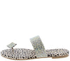 Xiviano Leopard Rhinestone Toe Single Strap Slide Sandal - Wholesale Fashion Shoes