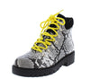 Yanni Black Lace Up Lug Sole Ankle Boot - Wholesale Fashion Shoes
