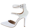 Young06 White Pu Women's Heel - Wholesale Fashion Shoes