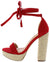 Erica062 Red Women's Heel