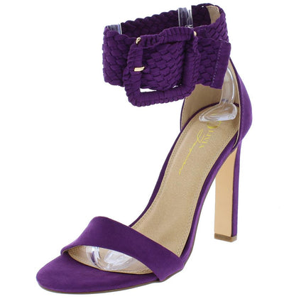 Yvonne Purple Suede Woman's Heel - Wholesale Fashion Shoes