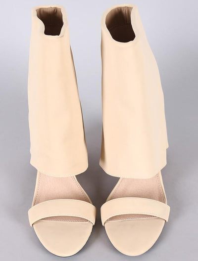 Zoto10 Nude Open Toe Discrete Wedge - Wholesale Fashion Shoes