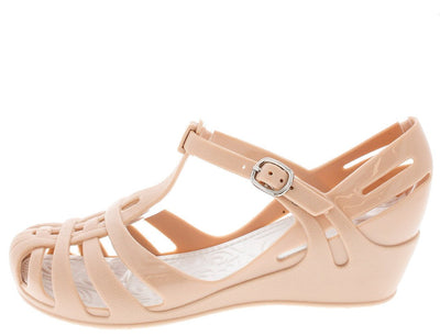 Zx1k Nude Jelly T-strap Kids Wedge - Wholesale Fashion Shoes