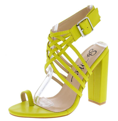 Zandy Lime Women's Heel - Wholesale Fashion Shoes