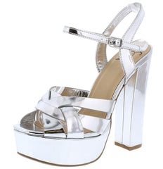 ZORIS SILVER WOMEN'S HEEL - Wholesale Fashion Shoes