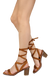 Zuley Chestnut Wrap Women's Chunky Wood Heel