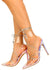 Actress Iridescent Lucite Pointed Toe Strappy Stiletto Heel