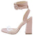 Addison Blush Crocodile Lucite Ankle Wrap Angled Heel