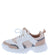Adobe16k White Pink Kids Multi Lace Up Sneaker Flat
