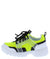 Adobe16k Neon Yellow Kids Multi Lace Up Sneaker Flat