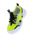 Adobe16k Neon Yellow Kids Multi Lace Up Sneaker Flat - Wholesale Fashion Shoes