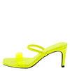 Always03 Neon Yellow Lucite Open Toe Mule Slide Heel - Wholesale Fashion Shoes