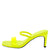 Always03 Neon Yellow Lucite Open Toe Mule Slide Heel