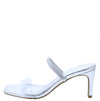 Always03 Silver Lucite Open Toe Mule Slide Heel - Wholesale Fashion Shoes