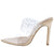 Amanda10 Nude Sparkle Lucite Pointed Open Toe Stiletto Heel
