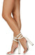 Maribel045 White Lucite Open Toe Ankle Wrap Strap Block Heel