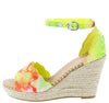 Announce05 Yellow Multi Women's Wedge - Wholesale Fashion Shoes