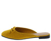 Approach01 Mustard Bow Ballet Toe Mule Slide Flat - Wholesale Fashion Shoes