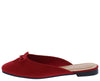 Approach01 Red Bow Ballet Toe Mule Slide Flat - Wholesale Fashion Shoes