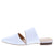 Bella4 White Snake Slice Cut Pointed Toe Mule Flat