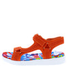 Bogota Orange Multi Strap Open Toe Slingback Sandal - Wholesale Fashion Shoes