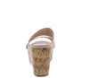 Laura112 Nude Slide On Dual Strap Platform Cork Wedge - Wholesale Fashion Shoes