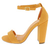 Cashmere01 Light Orange Open Toe Ankle Strap Tapered Heel - Wholesale Fashion Shoes