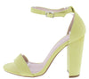 Cashmere01 Yellow Open Toe Ankle Strap Tapered Heel - Wholesale Fashion Shoes