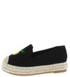 Chrom9k Black Fruit Stitch Round Toe Espadrille Kids Flat - Wholesale Fashion Shoes