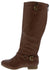 Coco1 Tan Dual Buckle Strap Knee High Boot