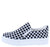 Sandra038 Black Check Slip on Sneaker Flat