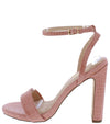 Cora1 Blush Crocodile Open Toe Slingback Ankle Strap Heel - Wholesale Fashion Shoes