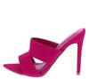 Crossing Pink Pointed Open Toe Cut Out Mule Stiletto Heel - Wholesale Fashion Shoes