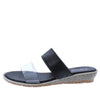 Dd226 Black Lucite Open Toe Dual Strap Slip On Wedge - Wholesale Fashion Shoes