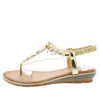 Dd229 Gold Women's Sandal - Wholesale Fashion Shoes
