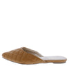 Desert1 Tan Quilted Pointed Toe Mule Flat - Wholesale Fashion Shoes